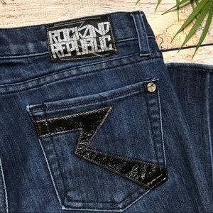 Rock and Republic Dark Wash Straight Jeans 29 Tall